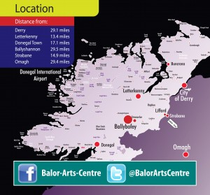 Ballybofey on map